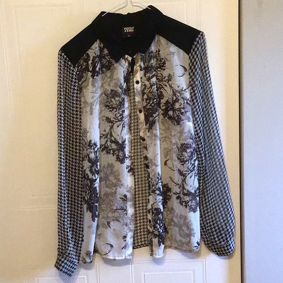 Long sleeve black and white light jacket